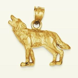 Womens Gold Wolf Necklace on Poshmark